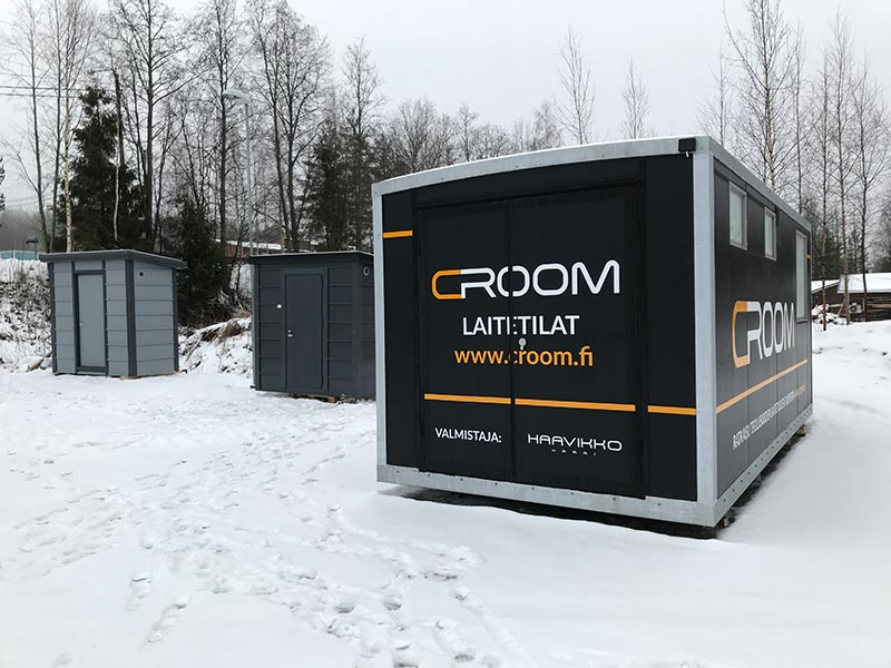 Equipment shelters are of Finnish design